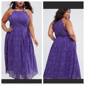 ASOS Curve 24 BRAND New w/ Tag purple lace gown